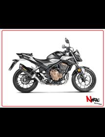 Terminale omologato carbonio Akrapovic Honda CB 400-500X / CB 500 F  / CBR 400-500R 16-21